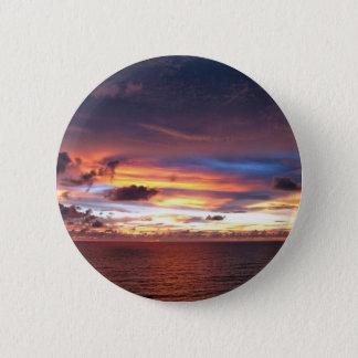 Texas sunset-wow lake kickapoo 6 cm round badge