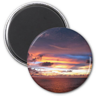 Texas sunset-wow lake kickapoo 6 cm round magnet