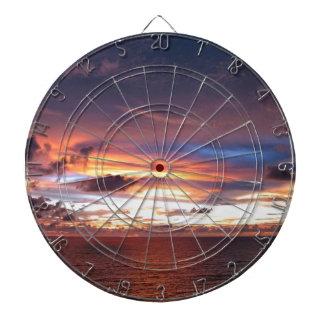 Texas sunset-wow lake kickapoo dartboard
