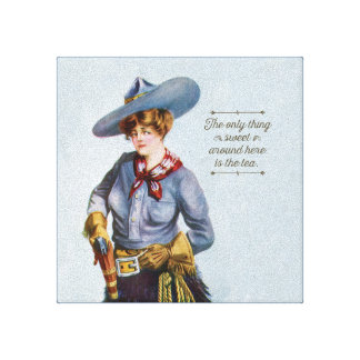 Texas Sweet Tea Vintage Cowgirl Canvas Art Gallery Wrapped Canvas