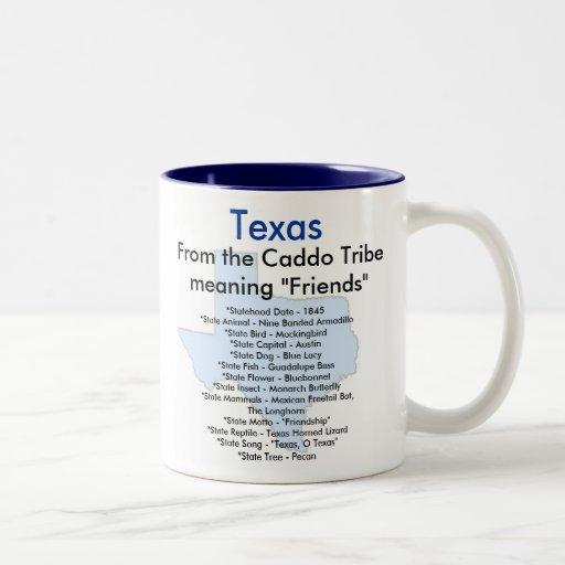 Texas Symbols & Map Mug