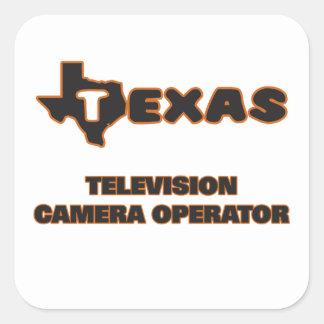 Texas Television Camera Operator Square Sticker