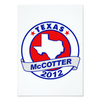 "Texas Thad McCotter 5"" X 7"" Invitation Card"