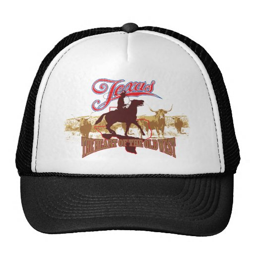 Texas - The Heart of the West Trucker Hats