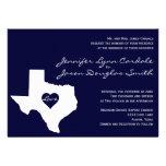 Texas Themed Navy White Wedding Invitations
