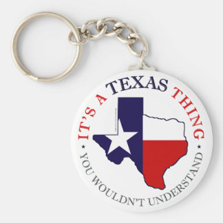 Texas Thing Basic Round Button Key Ring