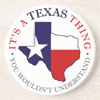 Texas Thing Sandstone Coaster