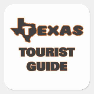 Texas Tourist Guide Square Sticker