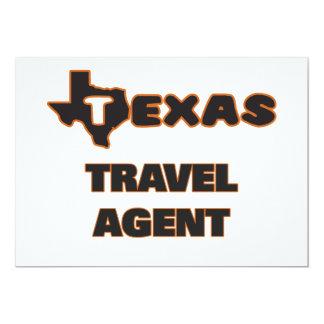 "Texas Travel Agent 5"" X 7"" Invitation Card"