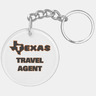 Texas Travel Agent Double-Sided Round Acrylic Keychain