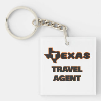 Texas Travel Agent Single-Sided Square Acrylic Key Ring