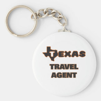 Texas Travel Agent Basic Round Button Key Ring