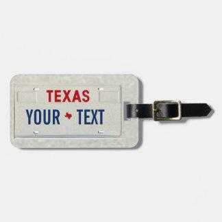 Texas Traveller Luggage Tag