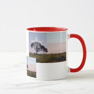 Texas Tree and Flag Mug