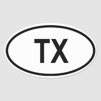 "Texas ""TX"" Oval Sticker"