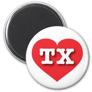 Texas TX red heart Fridge Magnet