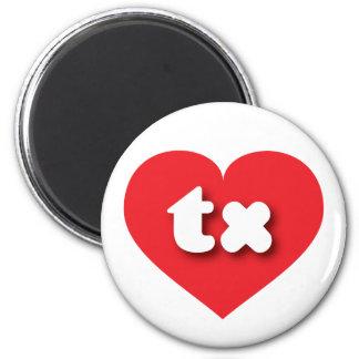 Texas tx red heart refrigerator magnet