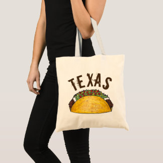 Texas TX Taco Mexican Food Foodie Tacos Texan Tote Bag