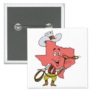 Texas TX Texan Cowboy Vintage Travel Souvenir Pinback Buttons