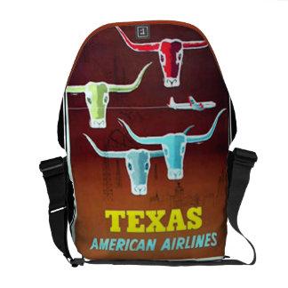 Texas Vintage Messanger Bag Rickshaw Bag Commuter Bag