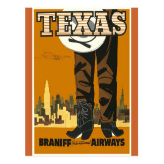 Texas - Vintage Travel Poster Art Post Cards