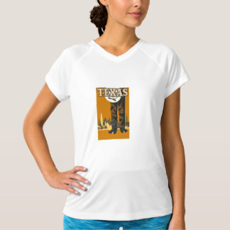 Texas Vintage Travel Poster T-Shirt