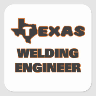 Texas Welding Engineer Square Sticker