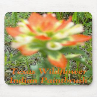 Texas Wildflower - Indian Paintbrush Mousepads