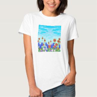 Texas wildflowers bluebonnet tee shirt