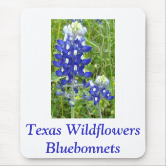 Texas Wildflowers - Bluebonnets Mouse Pad