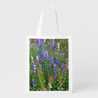 Texas Wildflowers Reusable Grocery Bag