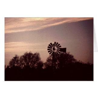 Texas Windmill Notecard #2