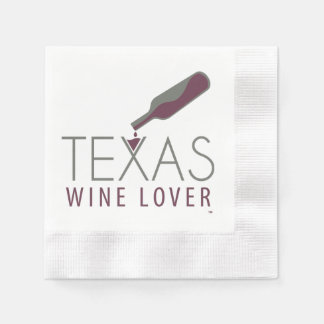 Texas Wine Lover Cocktail Napkin Paper Serviettes
