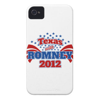 Texas with Romney 2012 Case-Mate iPhone 4 Cases