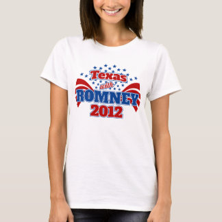 Texas with Romney 2012 T-Shirt