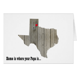 Texas Wood Cutout with Moveable Heart Card