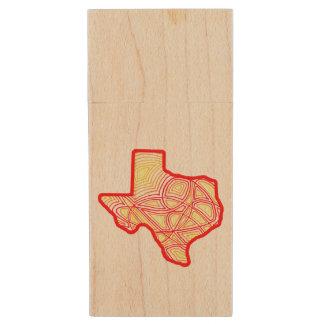 Texas Wood USB 2.0 Flash Drive