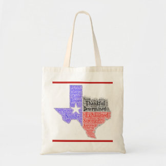 Texas Word Cloud Budget Tote