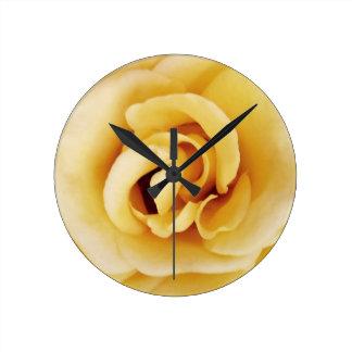Texas Yellow Rose Wall Clock