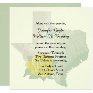 Texas Yellow Rose Wedding Invitation