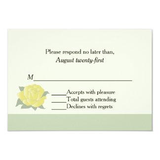 Texas Yellow Rose Wedding RSVP Card
