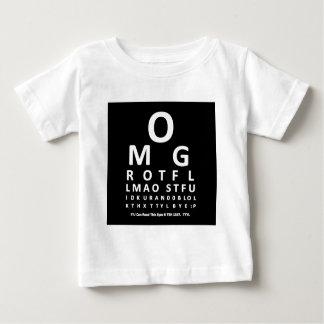 Text Addict's Eye Chart Baby T-Shirt