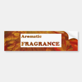 Text: AROMATIC fragrances : Advertise speciality Bumper Sticker