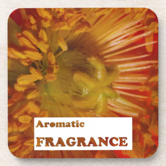Text AROMATIC fragrances Advertise speciality Drink Coaster
