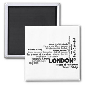 "Text Art ""London"" Magnet"
