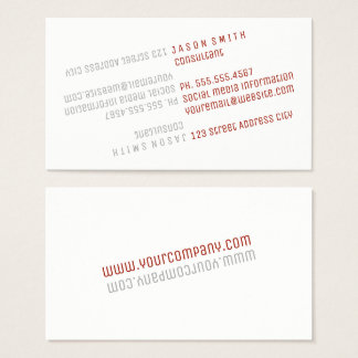 Text Flip / Red (Dynamic) Business Card