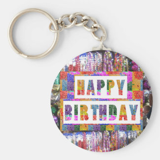 Text Greetings : HAPPY BIRTHDAY HappyBirthday Keychain