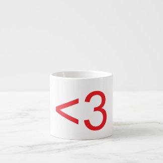 Text Heart Espresso Cup