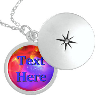 Text Here In Blue Necklace