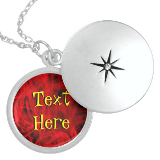 Text Here On A Red Abstract Pendant